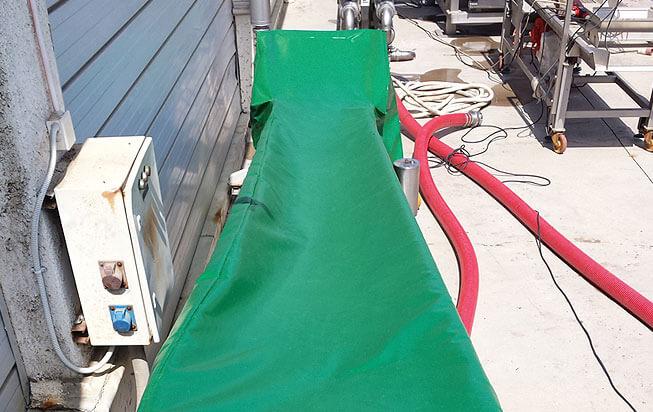 Cobertores de equipos industriales